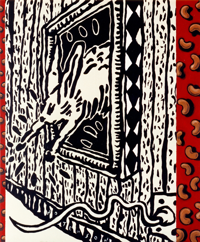 conejo . 1998 . acrylic . 125 x 150 cm