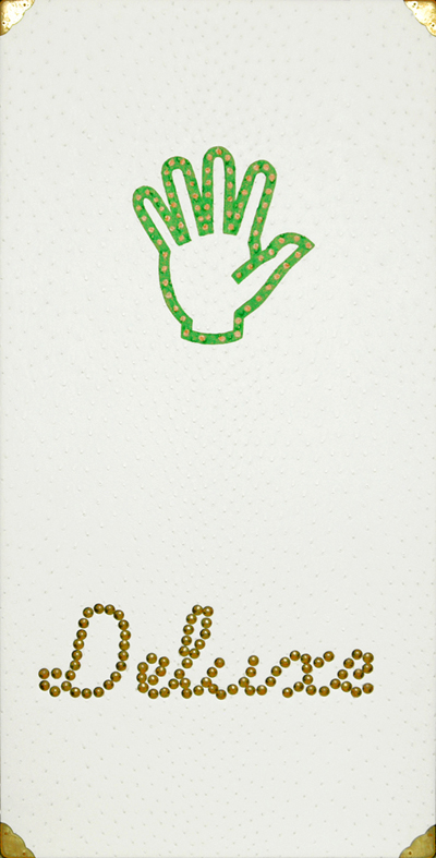 Deluxe hand . 2007 . mixed media . 40 x 80 cm