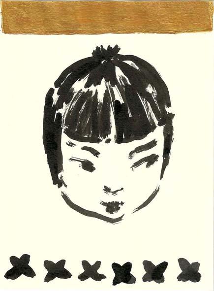 doll II . ink / acrylic . 13 x 18 cm