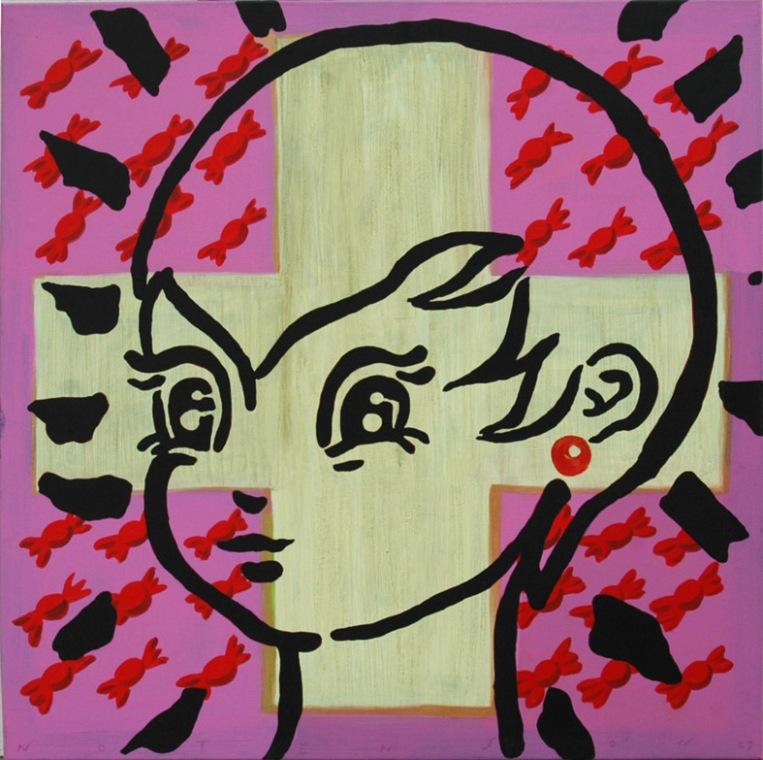 girl . 2007 . acrylic . 100 x 100 cm