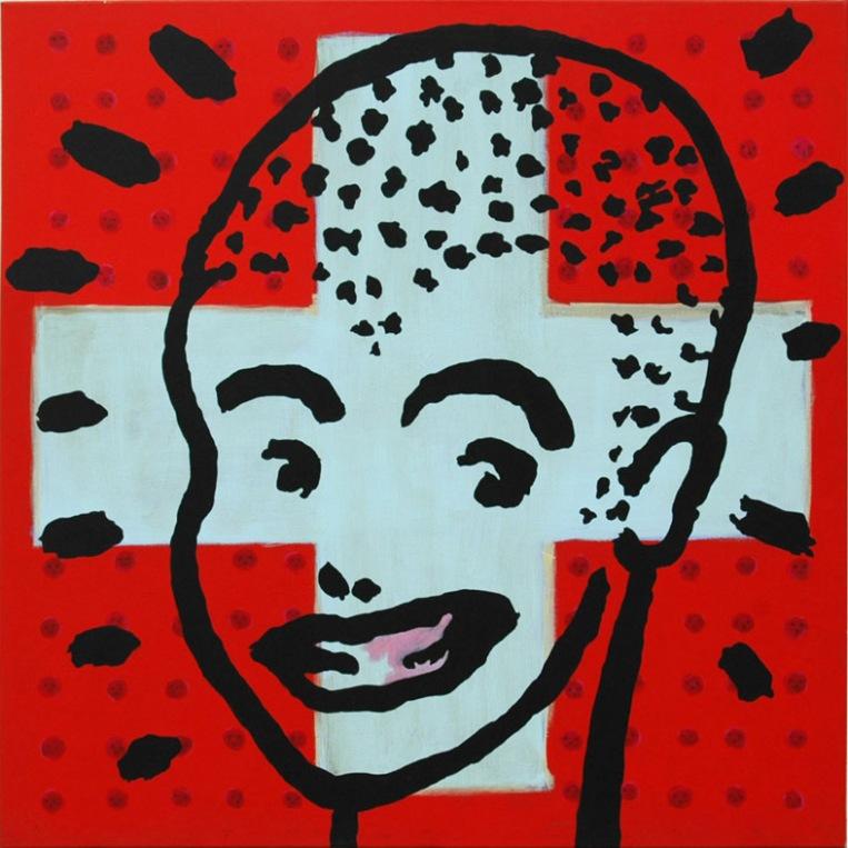 boy . 2007 . acrylic . 100 x 100 cm