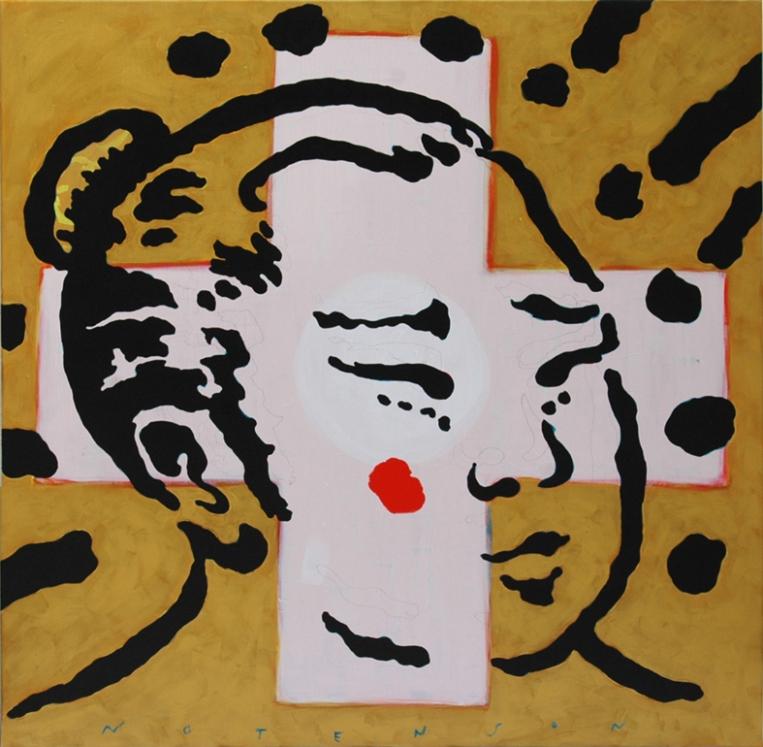 sumo . 2011 . acrylic . 100 x 100 cm