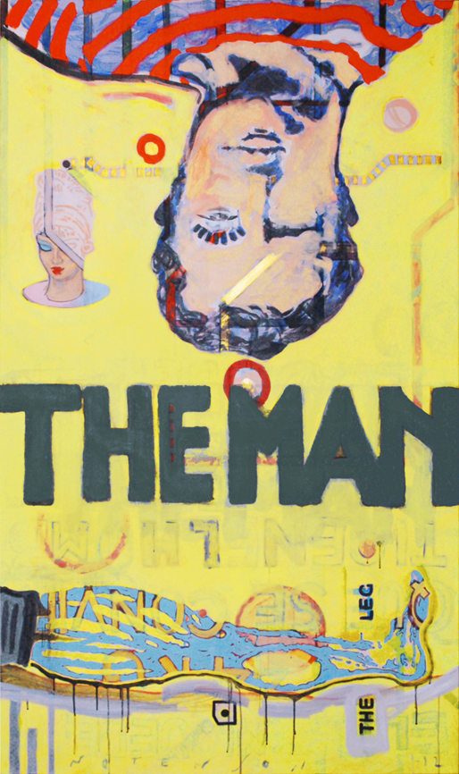 the man . 2012 . acrylic . 114 x 195 cm