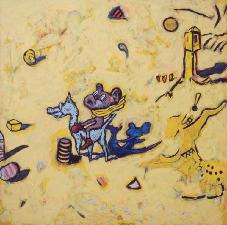yellow violetto . 1996 . acrylic . 150 x 150 cm