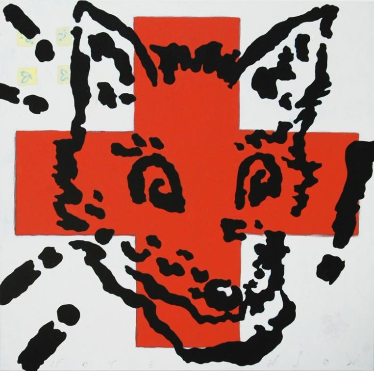zorrito . 2011 . acrylic . 100 x 100 cm
